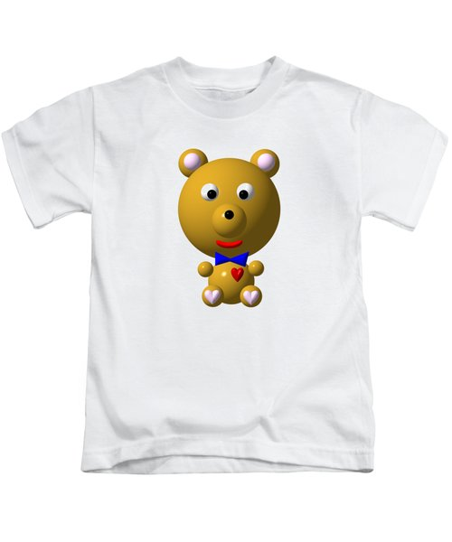 Cute Bear With Bow Tie Kids T-Shirt