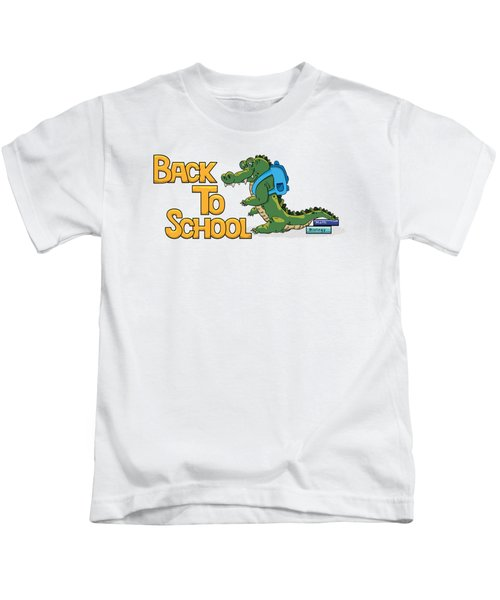 Cute Crocodile With Briefcase Kids T-Shirt