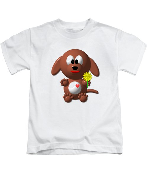 Cute Dog With Dandelion Kids T-Shirt