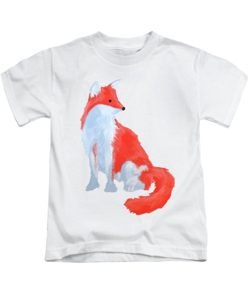 Cute Fox With Fluffy Tail Kids T-Shirt