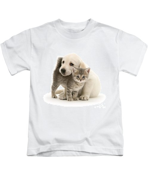 Cute Kitten And Perfect Puppy Kids T-Shirt