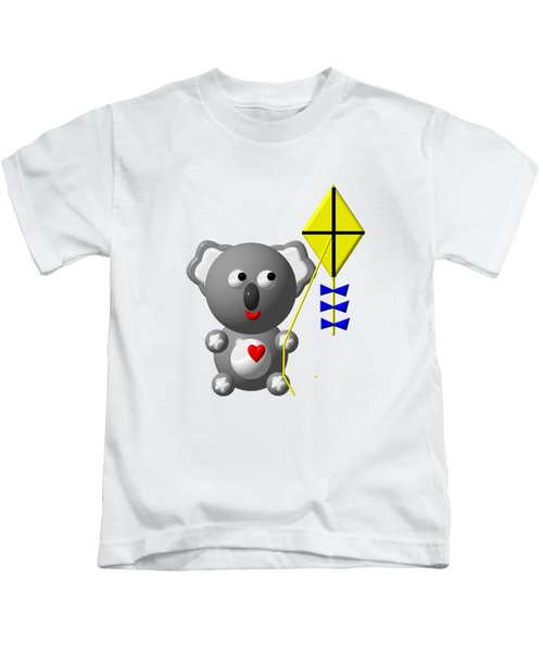 Cute Koala With Kite Kids T-Shirt