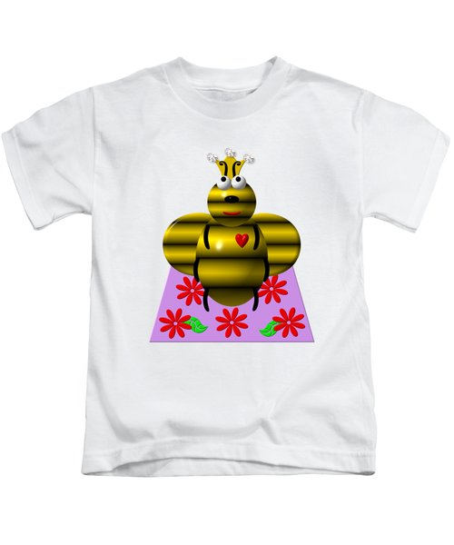 Cute Queen Bee On A Quilt Kids T-Shirt