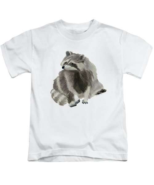 Cute Raccoon Kids T-Shirt