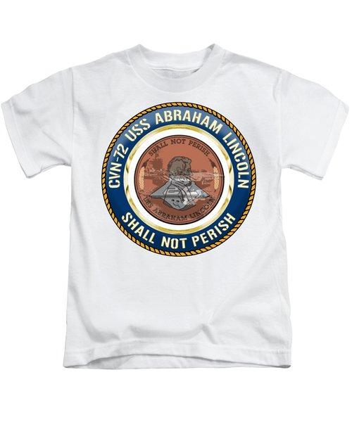 Cvn-72 Uss Abraham Lincoln Kids T-Shirt
