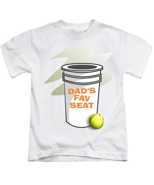 Dad's Fav Seat Kids T-Shirt by Jerry Watkins