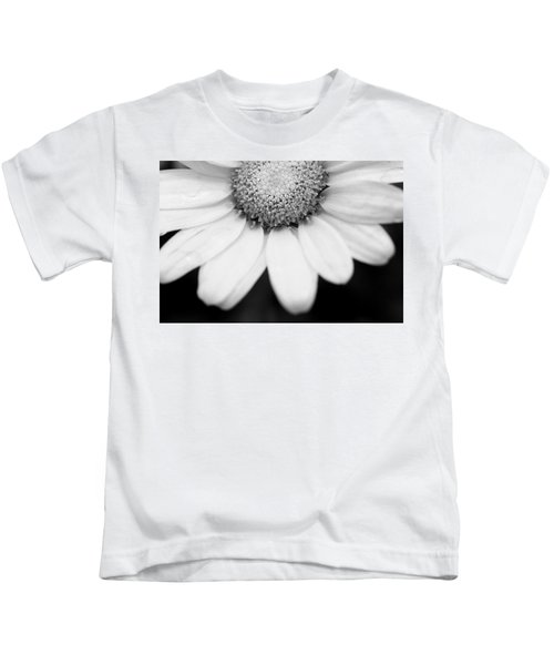 Daisy Smile - Black And White Kids T-Shirt
