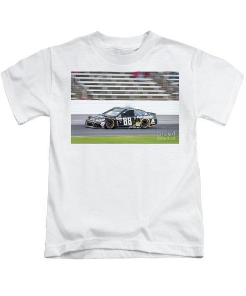 Dale Earnhardt Jr Running Hard At Texas Motor Speedway Kids T-Shirt