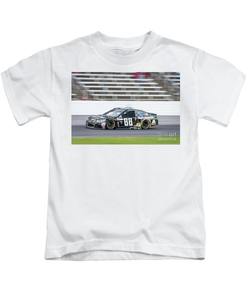 Dale Earnhardt Jr Running Hard At Texas Motor Speedway Kids T-Shirt