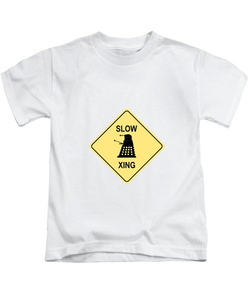 Dalek Crossing Kids T-Shirt