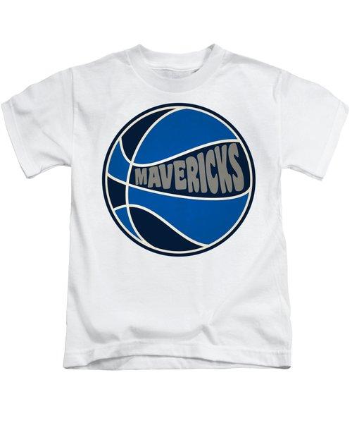 Dallas Mavericks Retro Shirt Kids T-Shirt by Joe Hamilton