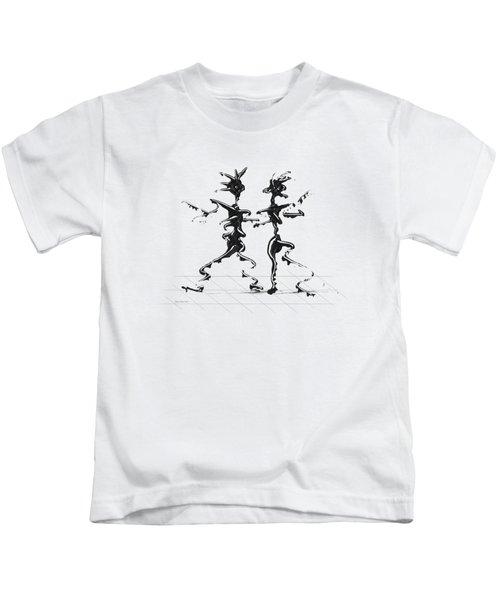 Dancing Couple 2 Kids T-Shirt