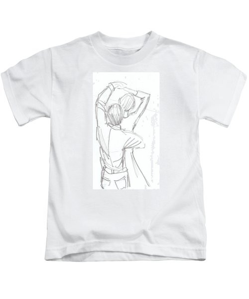 Dancing Couple Pencil Sketch Kids T-Shirt