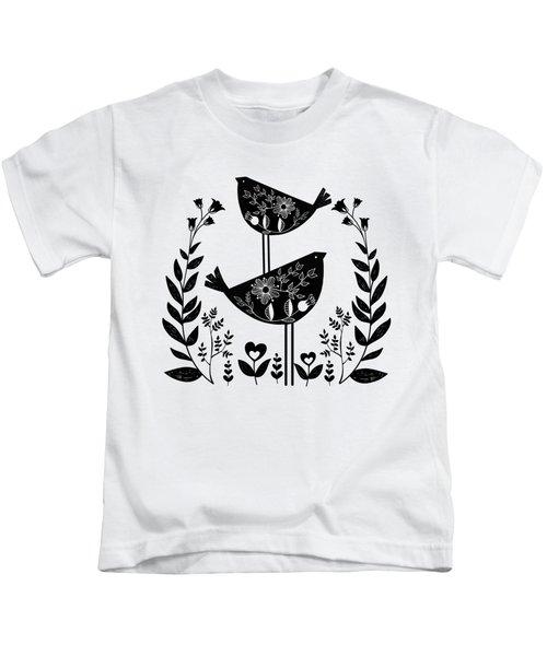Danish Birds Of Good Luck And Good Life Kids T-Shirt