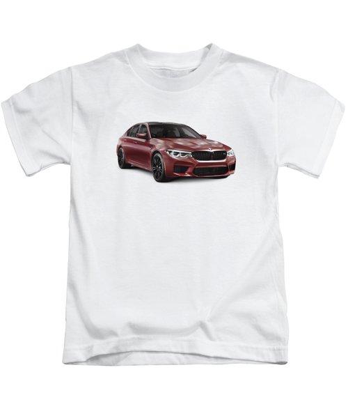 Dark Red 2018 Bmw M5 Performance Car Sport Sedan Art Photo Print Kids T-Shirt