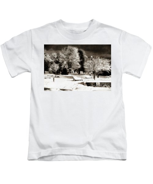 Dark Skies And Winter Park Kids T-Shirt