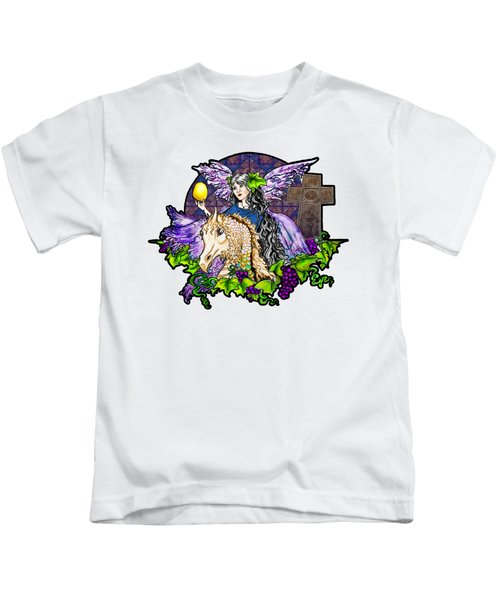 Dark Tales Of Fairy Eve And The Dragons Of Eden Kids T-Shirt by Janice Moore