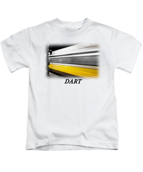 Dart Train T-shirt Kids T-Shirt by Rospotte Photography