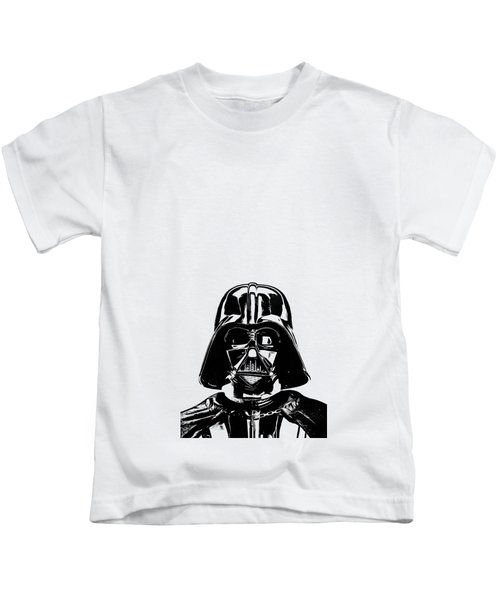 Kids T-Shirt featuring the photograph Darth Vader Painting by Edward Fielding