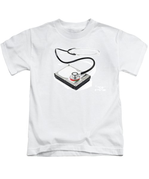 Data Recovery Stethoscope And Hard Drive Disc Kids T-Shirt