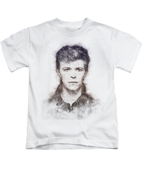 David Bowie Portrait 01 Kids T-Shirt