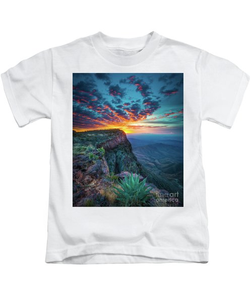 Dawn In The Chisos Kids T-Shirt