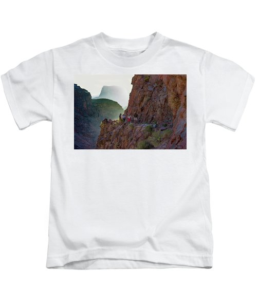 Dawn On Bright Angel Trail Kids T-Shirt