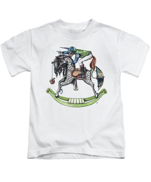 Day At The Races Kids T-Shirt by Kelly Jade King