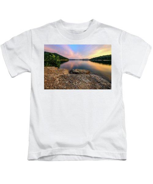 Day Light On The Bay Kids T-Shirt