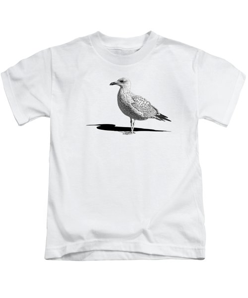 Daydreaming In Black And White Kids T-Shirt