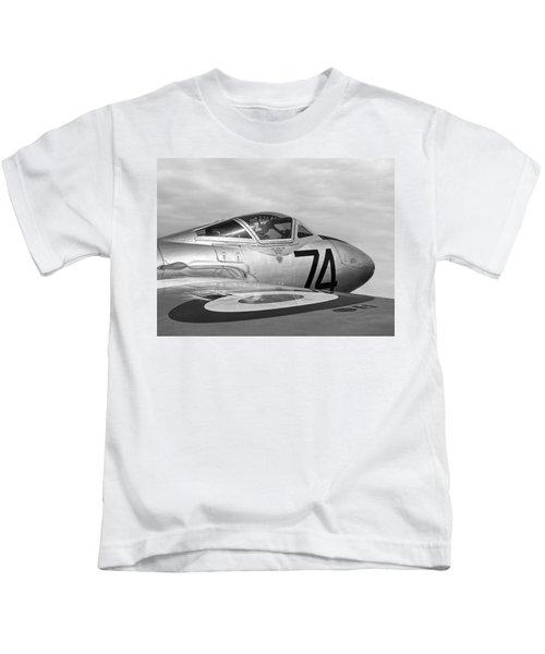de Havilland Vampire - Black and White Kids T-Shirt