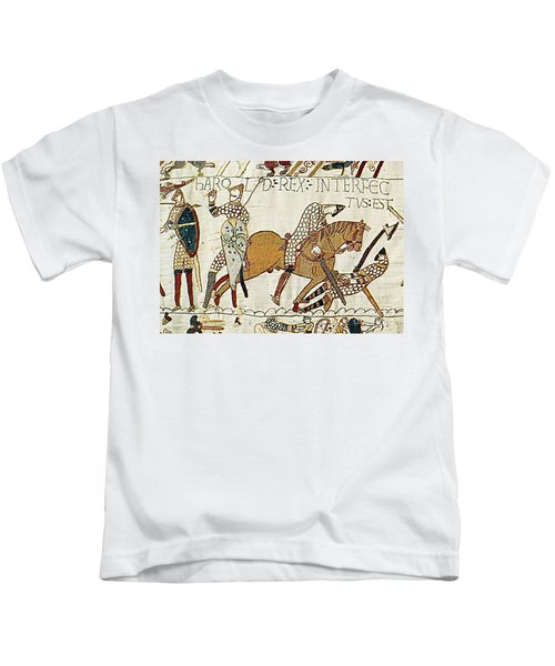 Death Of Harold, Bayeux Tapestry Kids T-Shirt