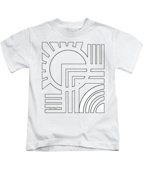 Deco Design White Kids T-Shirt