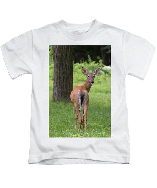 Deer Looking Back Kids T-Shirt