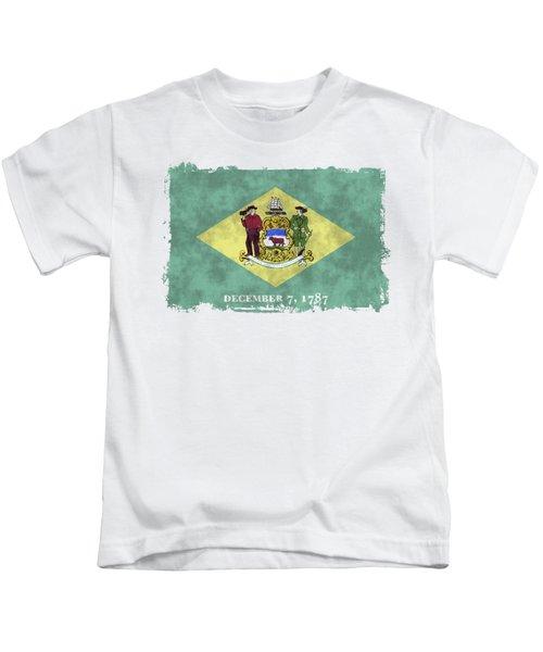 Delaware Flag Kids T-Shirt