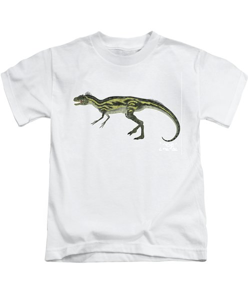 Deltadromeus Side Profile Kids T-Shirt