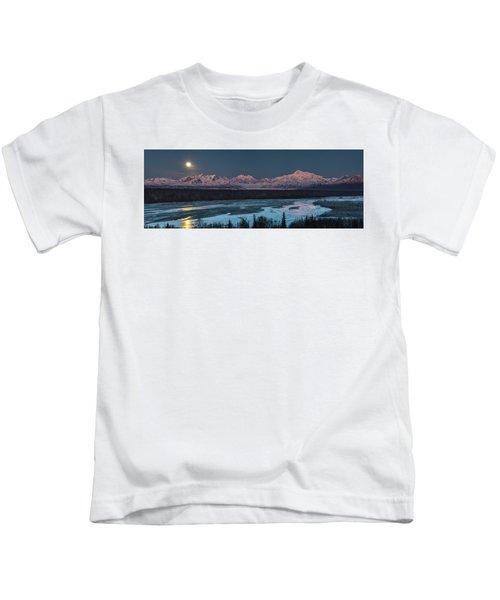 Denali Morning Blue Kids T-Shirt