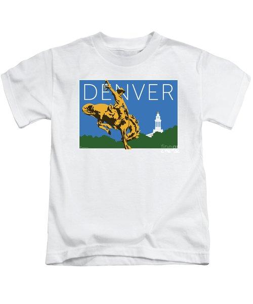 Denver Cowboy/dark Blue Kids T-Shirt