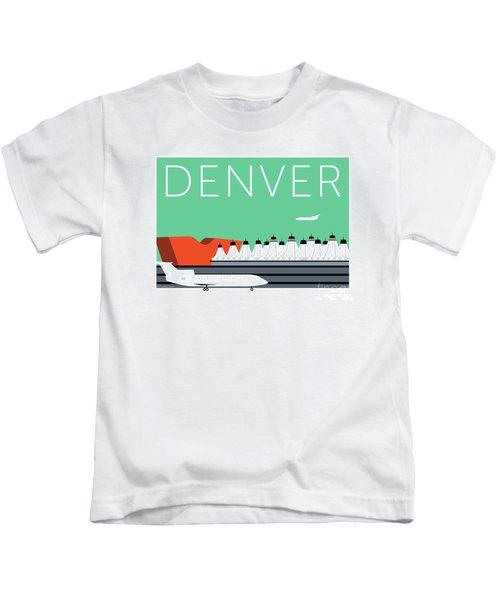 Denver Dia/aqua Kids T-Shirt