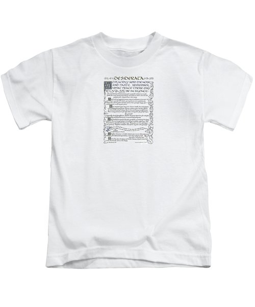Desiderata-blue Kids T-Shirt