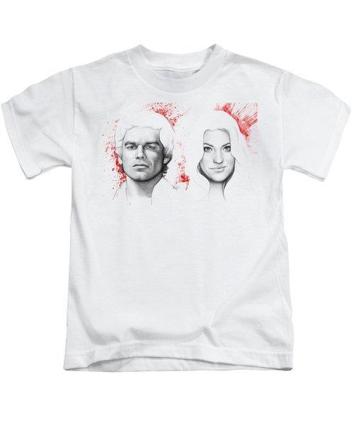 Dexter And Debra Morgan Kids T-Shirt