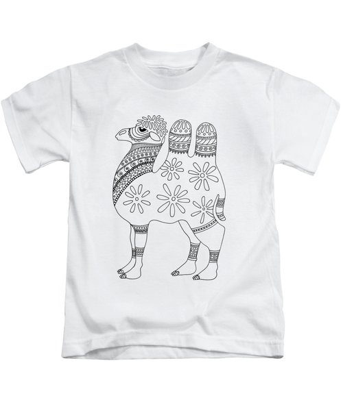 Difficult Camel Kids T-Shirt by Sarah Rosedahl