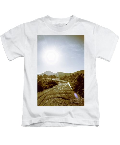 Dirt Roads Of Outback Tasmania Kids T-Shirt