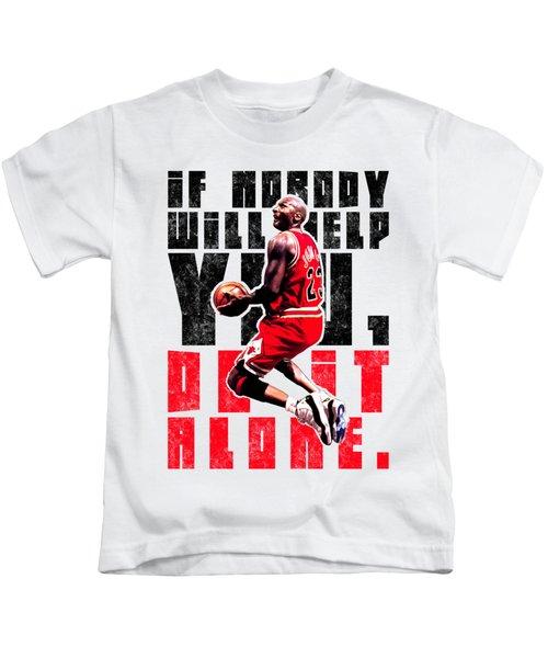 Do It Alone Kids T-Shirt by Iman Cruz