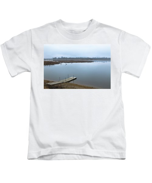 Dock On A Serene Lake Kids T-Shirt