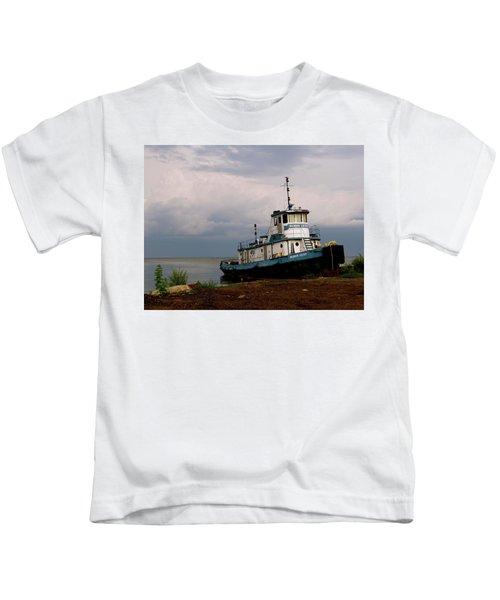 Docked On The Shore Kids T-Shirt