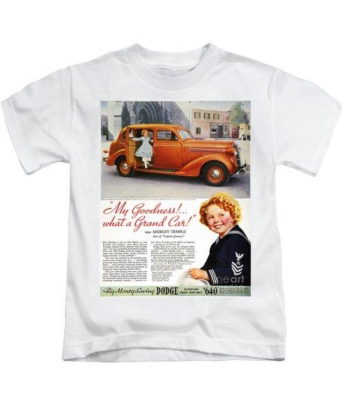 Dodge Automobile Ad, 1936 Kids T-Shirt by Granger