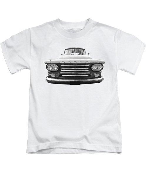 Dodge D100 Sweptside 1958 In Black And White Kids T-Shirt