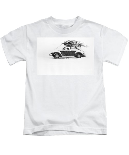 Dog In Car  Kids T-Shirt