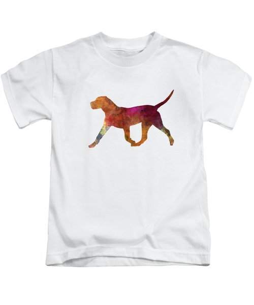 Dogo Canario In Watercolor Kids T-Shirt by Pablo Romero